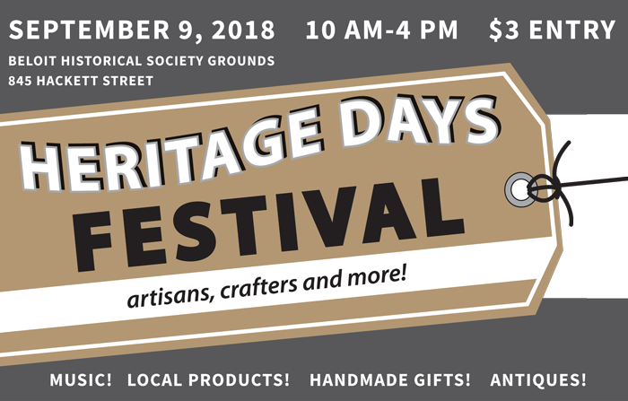 heritage days festival is a craft fair with $3 entry to attend or $50 per space for vendors. Spaces are 10 feet by 10 feet.